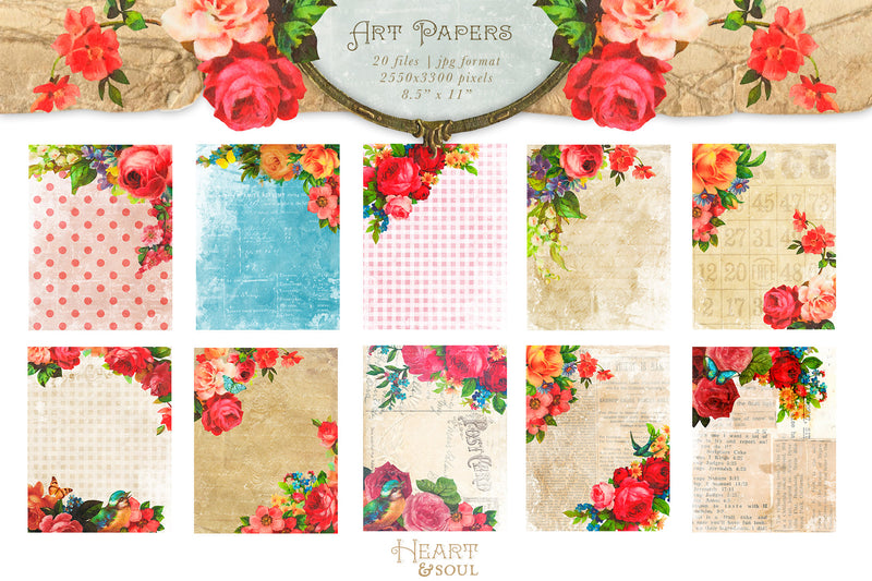 Heart & Soul Flowers & Frames Kit
