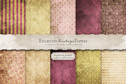 Vintage Printable Papers - Honeyed Berry