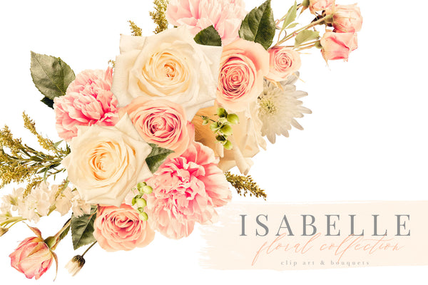 Isabelle Floral Clip Art Graphics Collection