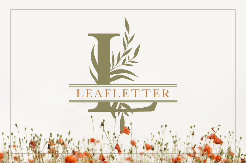 Leafletter Split Monogram Display Font Kit