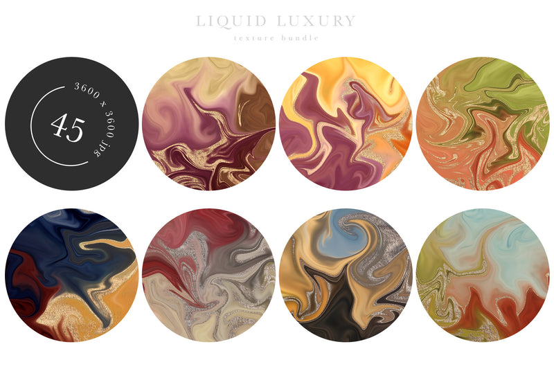 Liquid Luxury Texture Graphics Bundle