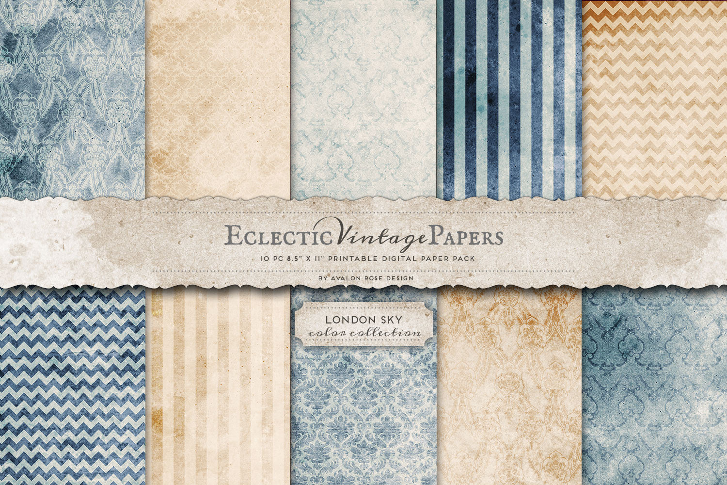 Vintage Printable Papers - London Sky
