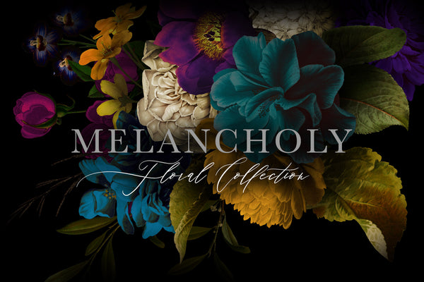 Melancholy Floral Graphics Collection
