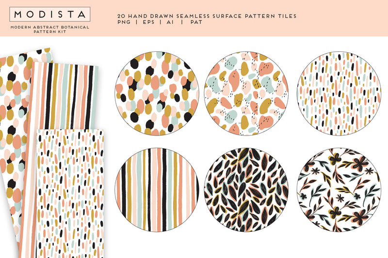 Modista Modern Abstract Botanical Pattern Kit