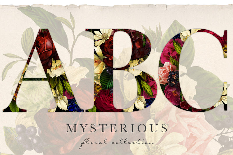 Mysterious Floral Graphics Collection