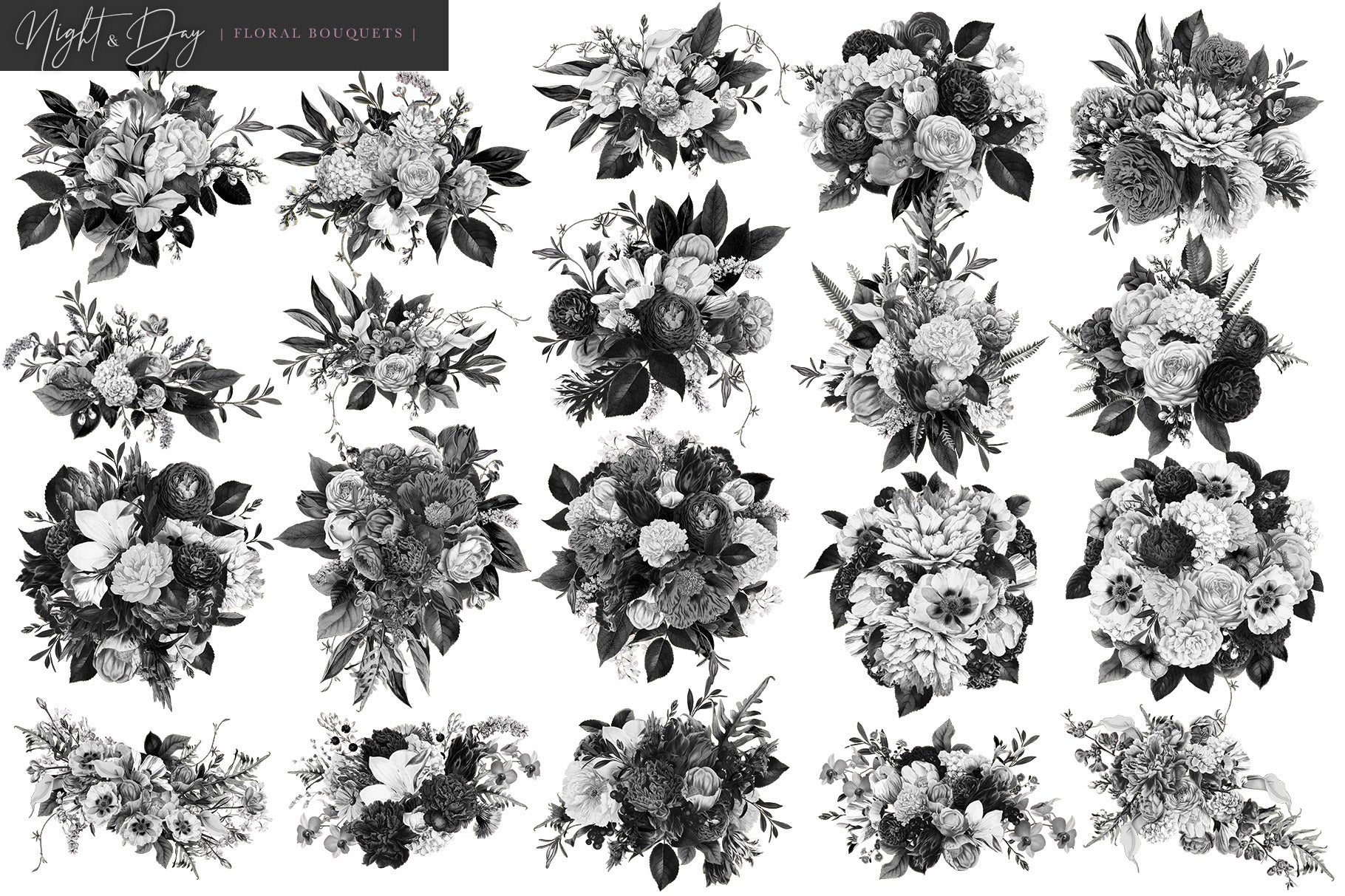 Night and day floral bouquet graphics avalon rose design night and day floral bouquet graphics mightylinksfo