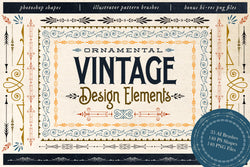 Ornamental Vintage Design Elements