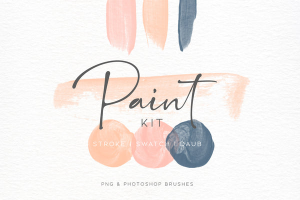 Paint Swatch & Daub Brush Kit
