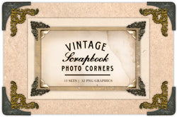 Vintage Scrapbook Photo Corners