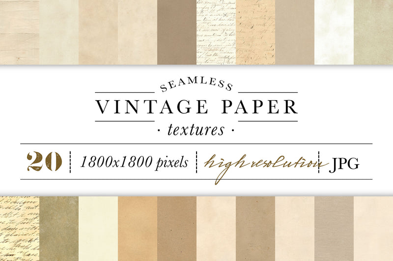 Seamless Vintage Paper Texture Graphics