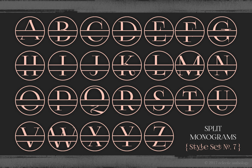 Split Monograms Vector Toolkit