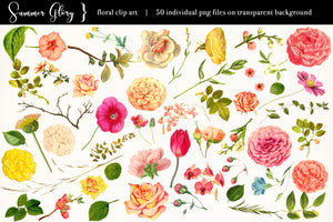 Floral Clip Art - Summer Glory