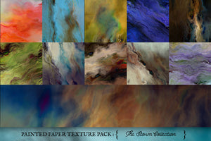 Painted Paper Textures The Storm Collection