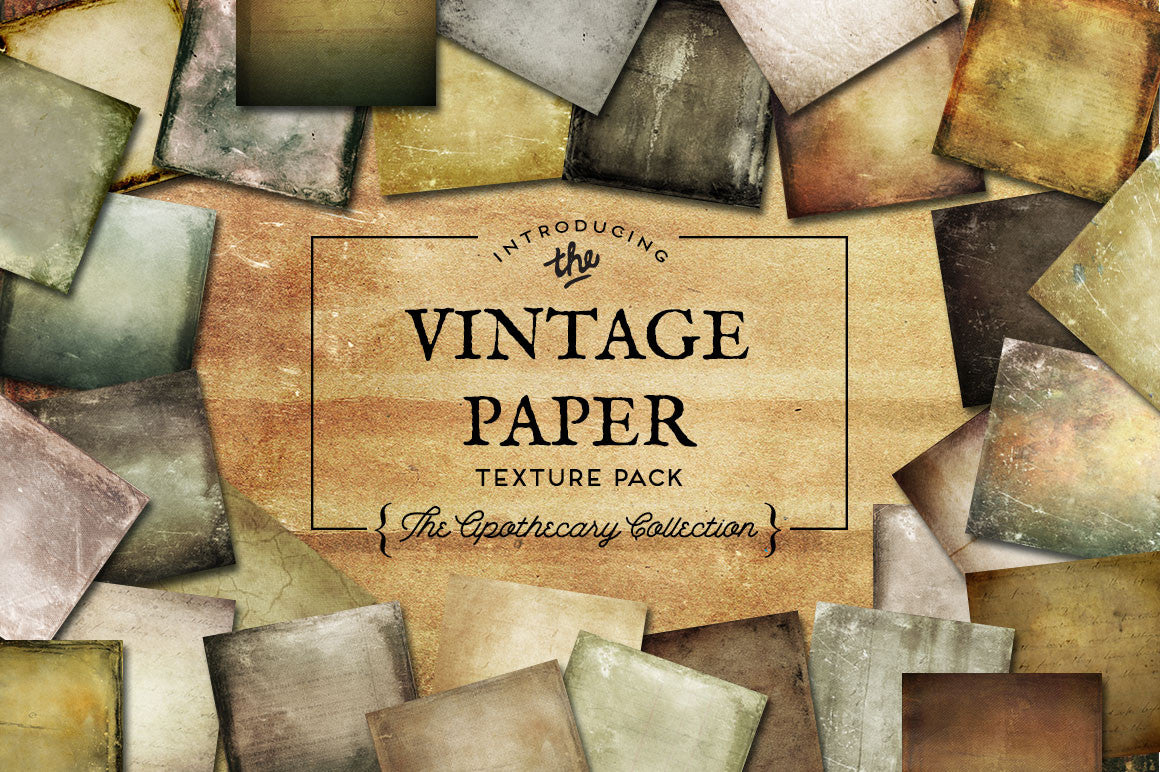 Vintage Paper Textures The Apothecary Collection