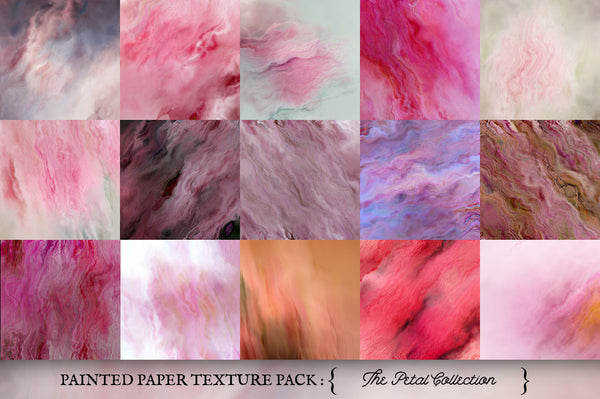 Painted Paper Textures The Petal Collection