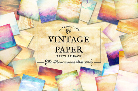 Vintage Paper Textures The Heavenward Collection