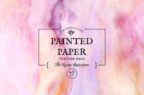 Painted Paper Textures The Agate Collection