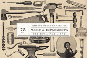 Vintage Tool and Implement Graphics