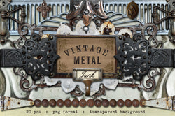 Vintage Metal Junk Graphics Set 3