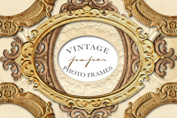 Scrolled Paper Frames Royalty-Free Graphics