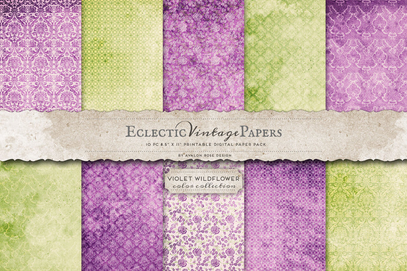 Violet Wildflower Printable Paper Graphic