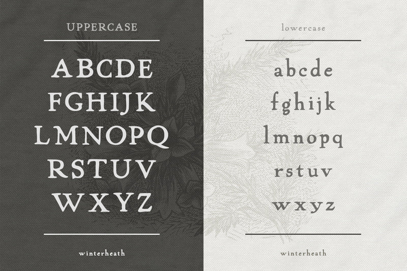Winterheath Hand Drawn Serif Font