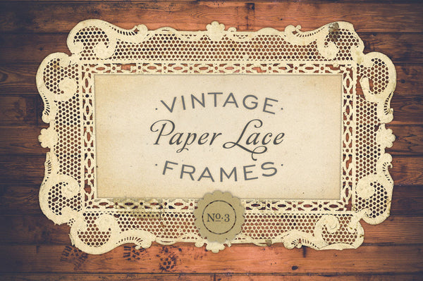 Antique Paper Lace Frames Graphics No. 3