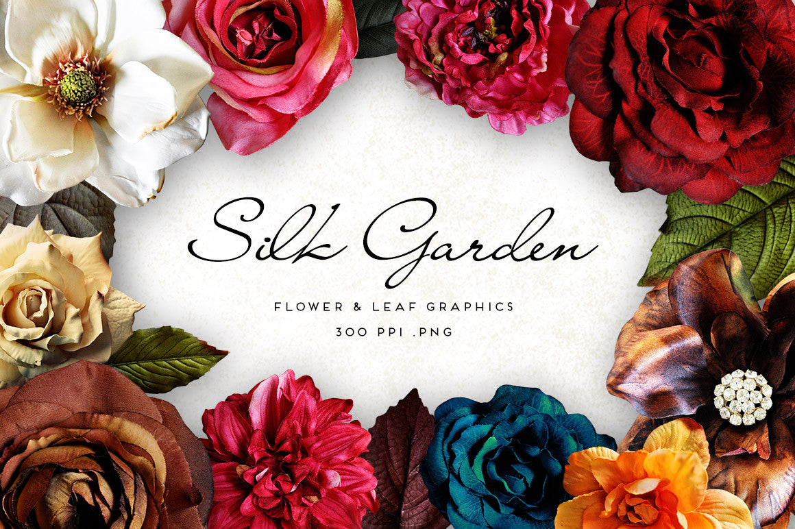 Silk Flower Garden Graphics