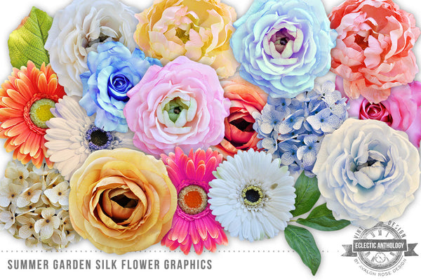 Summer Garden Silk Flowers Graphics