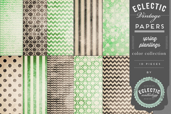 Vintage Paper Pattern Graphics MEGA Bundle