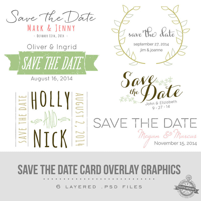Save the Date Overlay Graphics