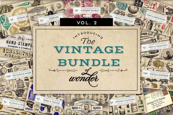 Vintage Graphics Bundle of Wonder Vol. 2