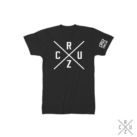 Cruz Cross T-Shirt (BLK/WHT)