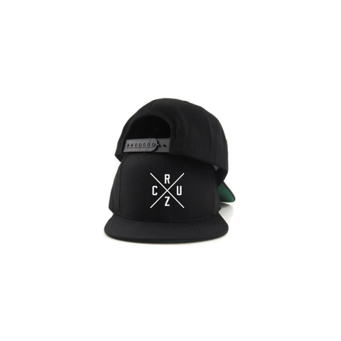 Cruz Cross 3D Stitch Snapback - Black