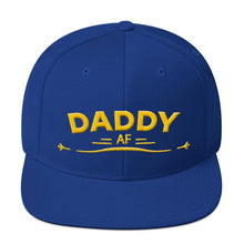 Load image into Gallery viewer, DADDY AF Snapback Hat