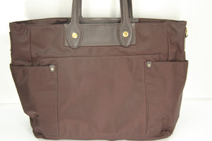 Marc Jacobs Preppy Nylon Eliz-a-baby Diaper bag New $348 Carob brown tote