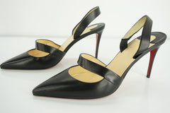 Christian Louboutin Womens Actina Slingback Pump Black Leather Size 39