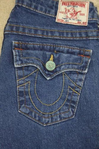 True Religion Womens Joey Vintage Jeans Blue Denim Size 27