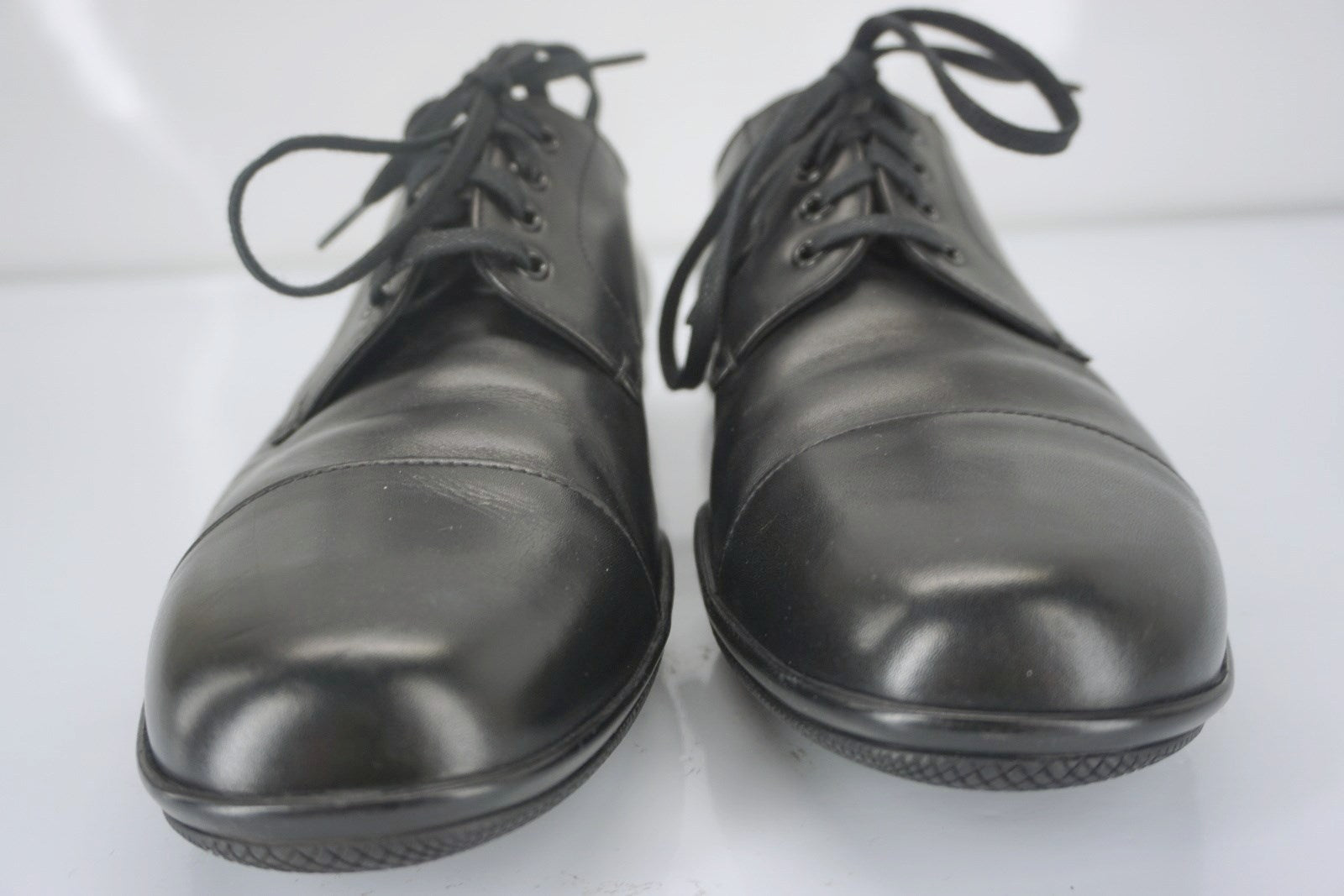 Prada Sport Black Leather Toblac Cap Toe Oxford Dress Shoes SZ 9E Wide New $670