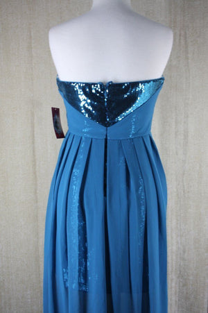 Trixxi Juniors Chiffon Sequin High-Low Hem sleeveless Dress size 3 $88 NWT