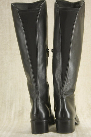 Stuart Weitzman Black leather Arlington Stretch riding boots Size 5.5 New $595