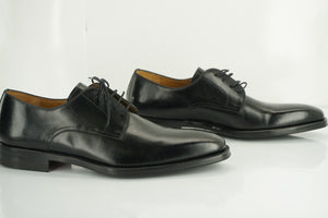 Magnanni Soba Black Leather plain toe oxfords size 10 New lace up $350