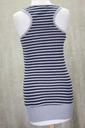 Love on a hanger Halter sweater Top size Small striped buttons