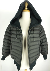 Burberry Womens Langleigh Coat Black Nylon Cotton Size Small