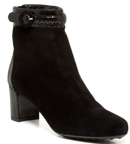 Aquatalia by Marvin K Takeout Black Suede Ankle Boots Size 10 NIB $475 High Heel