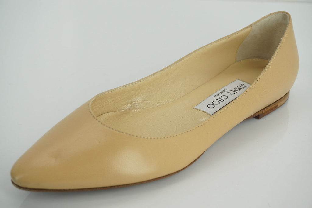 Jimmy Choo Womens Goa Ballet Flat  Leather Size 36.5