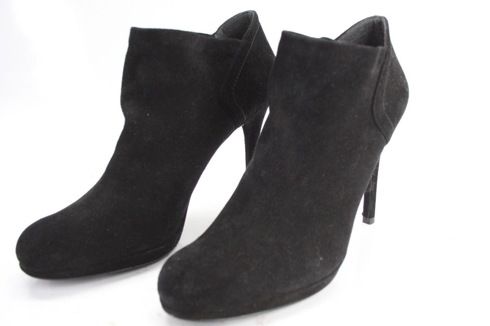 Stuart Weitzman Black Suede Bluster High Heel Ankle Boots Size 10 NEW $395