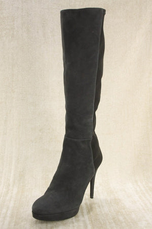 Stuart Weitzman Grey suede 'Skyline' High Heels Tall Boots SZ 10.5 NEW $695 5050