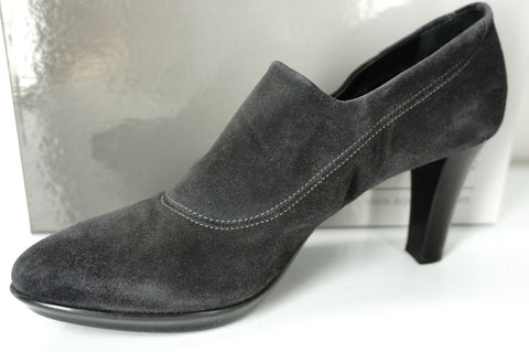 Aquatalia Rosetta Charcoal gray suede Ankle booties SZ 9.5 NIB Pumps $398