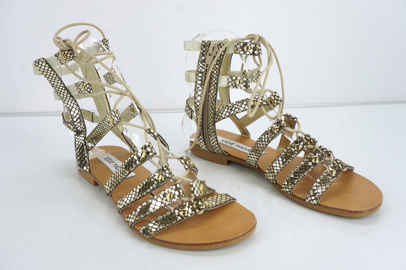 Steve Madden Womens Maybit Ankle Sandal  Leather Size 5.5